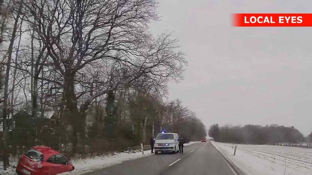 Manden blev fundet livløs i bilen. KLIK FOR MERE. Foto: Localeyes.dk