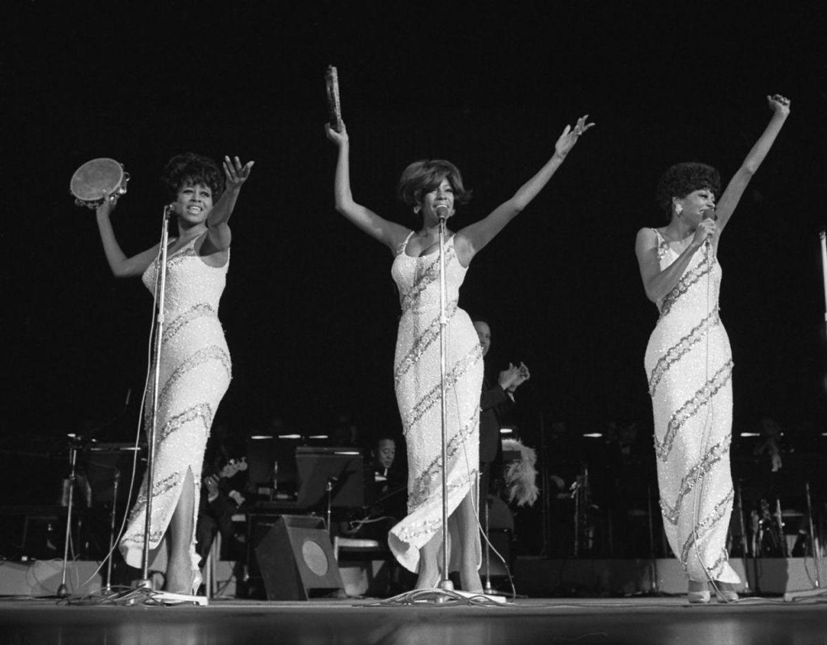 Supergruppen Diana Ross and the Supremes optræder i København 1969.