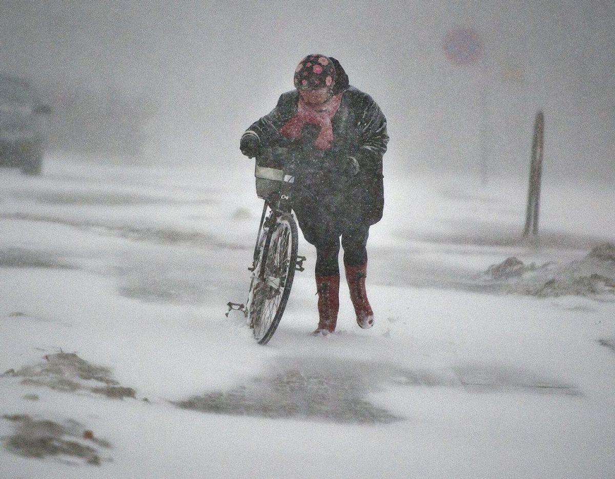 DMI advarer nu om snestorm. KLIK OG SE HVOR. Foto: Scanpix