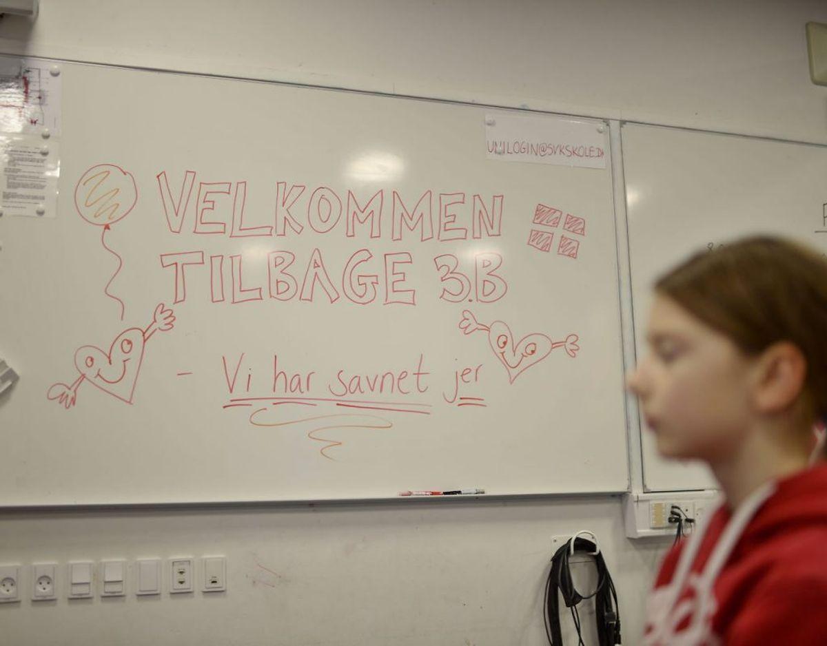 Her skolestart på Tved Skole ved Svendborg. KLIK FOR FLERE BILLEDER. Foto: Scanpix/Tim K. Jensen