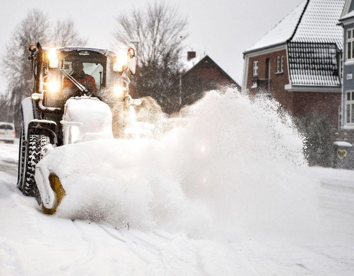 Snefygning kan give pludselige snedriver. Foto: Scanpix