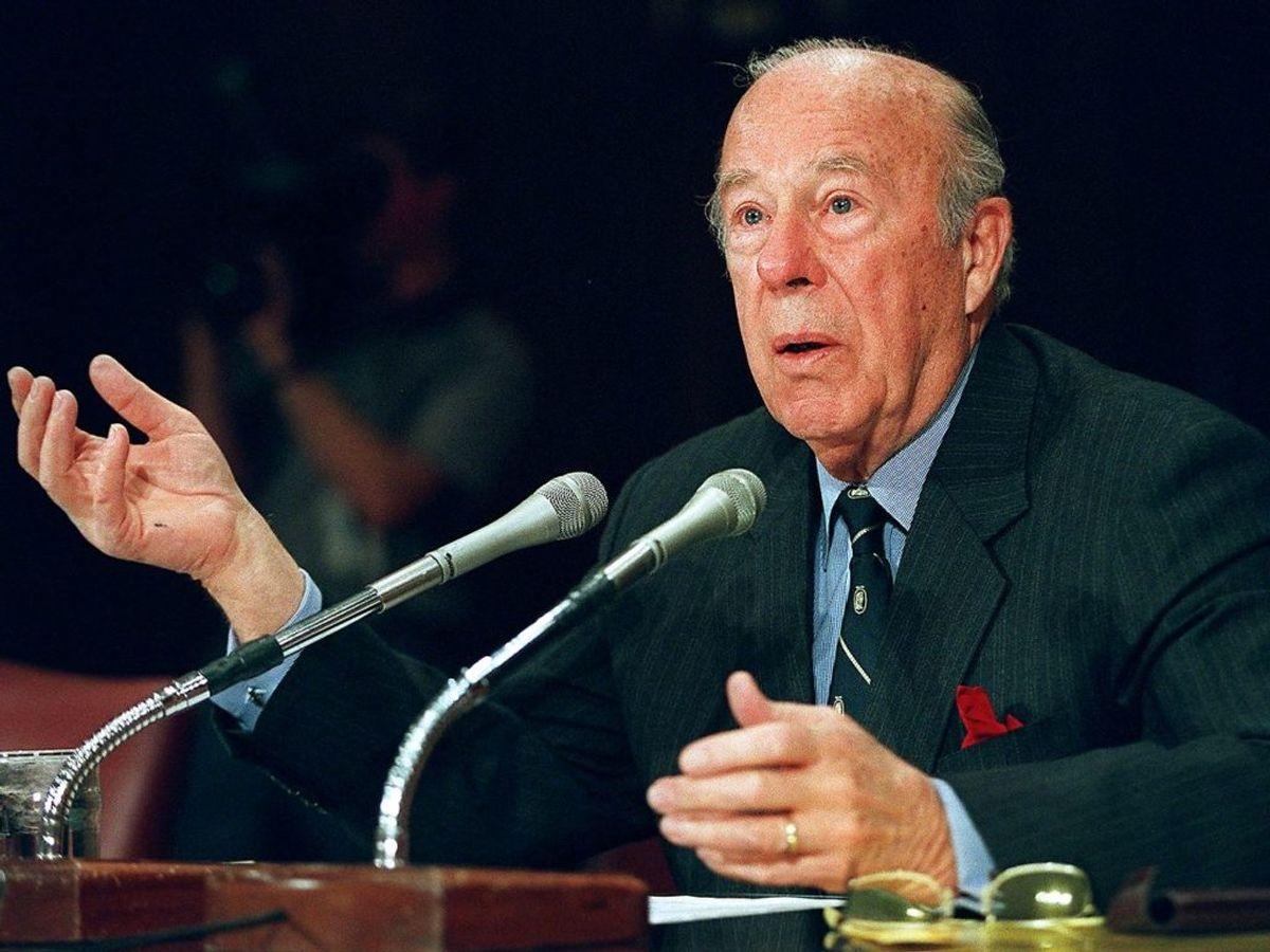 USA's tidligere udenrigsminister, George Schultz, er død. Foto: MARIO TAMA/Scanpix.