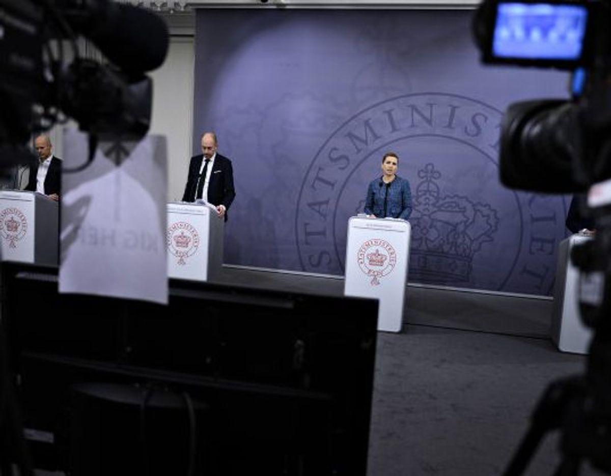 71,8 procent af danskerne støtter den nuværende nedlukning af landet, viser Voxmeter-måling. Ifølge en professor er det et tegn på, at danskerne støtter op om coronahåndteringen. (Arkivfoto) Foto: Philip Davali/Scanpix