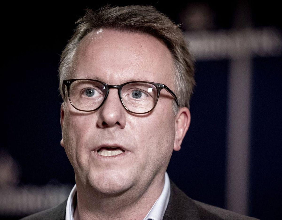 Skatteminister Morten Bødskov har sent lørdag aften indgået overenskomst med de 195.000 statsansatte. Arkivfoto: Liselotte Sabroe/Ritzau Scanpix
