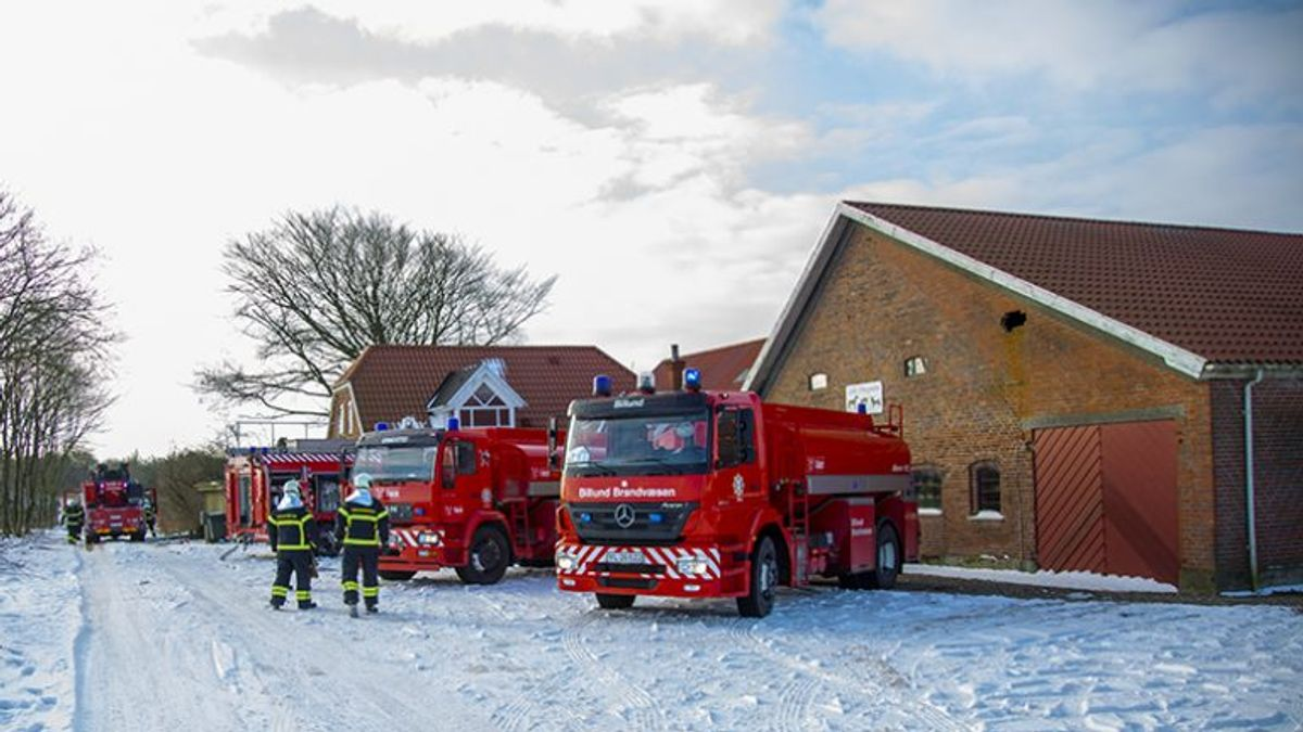 Der gik ild i et stuehus lørdag formiddag. Foto: René Lind Gammelmark