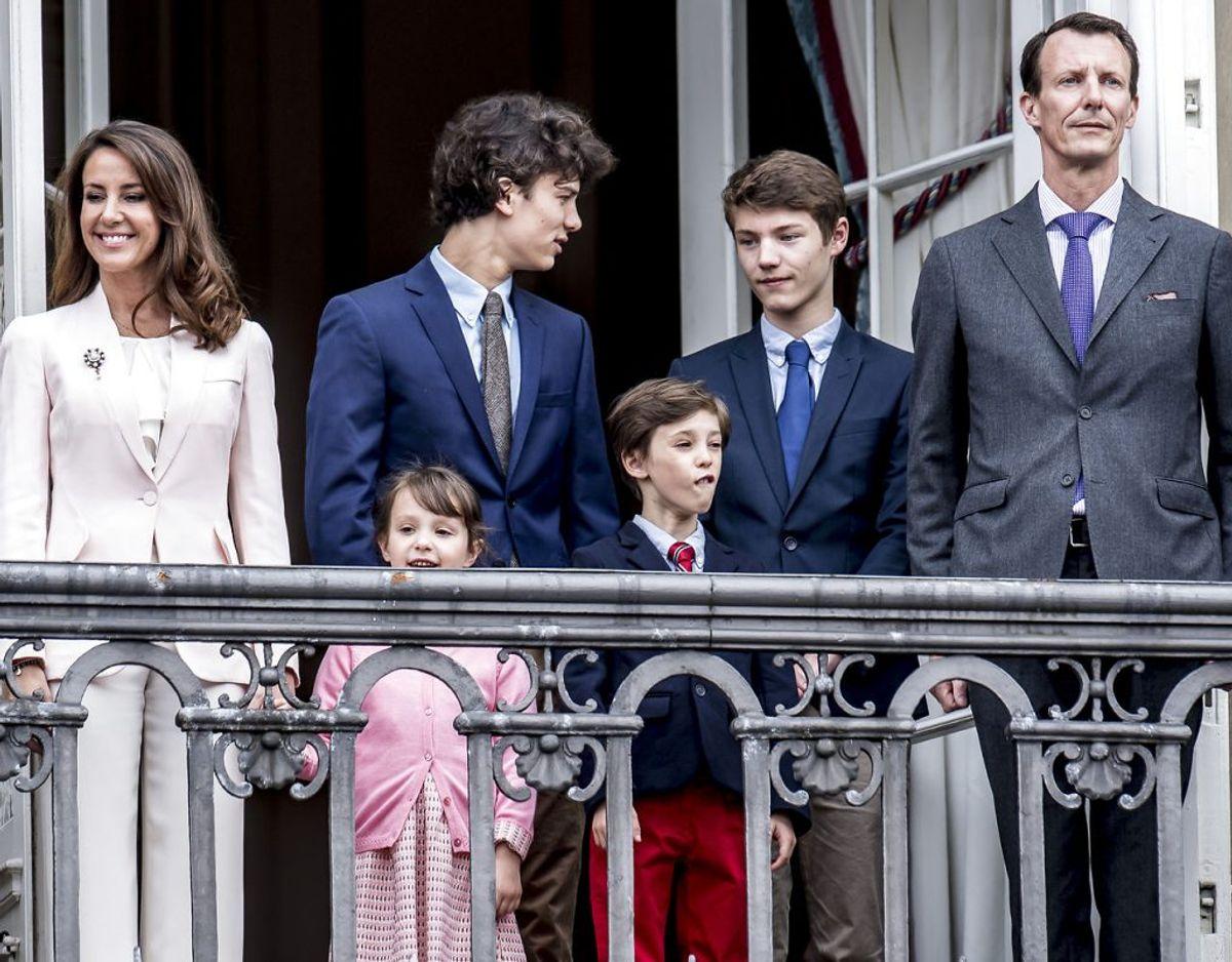 Prins Joachim har to børn, Prins Nikolai og Prins Felix, med Hertuginde Alexandra. Prinsesse Marie og Prins Joachim har fået børnene Prins Henrik og Prinsesse Athena sammen. Foto: Mads Claus Rasmussen/Ritzau Scanpix