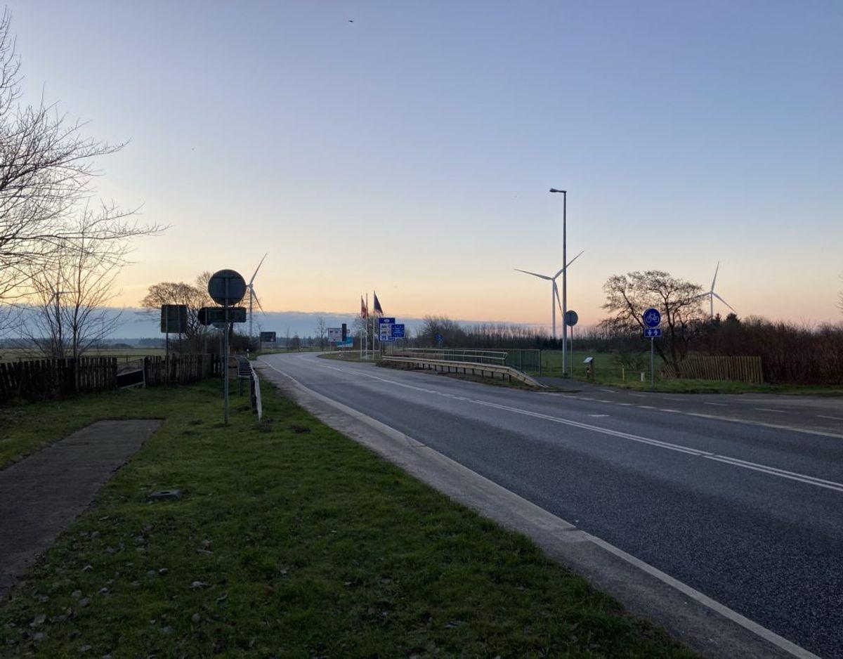 Sæd grænseovergang, klokken 8.40 fredag. Foto: Nicklas Skyum Clausen