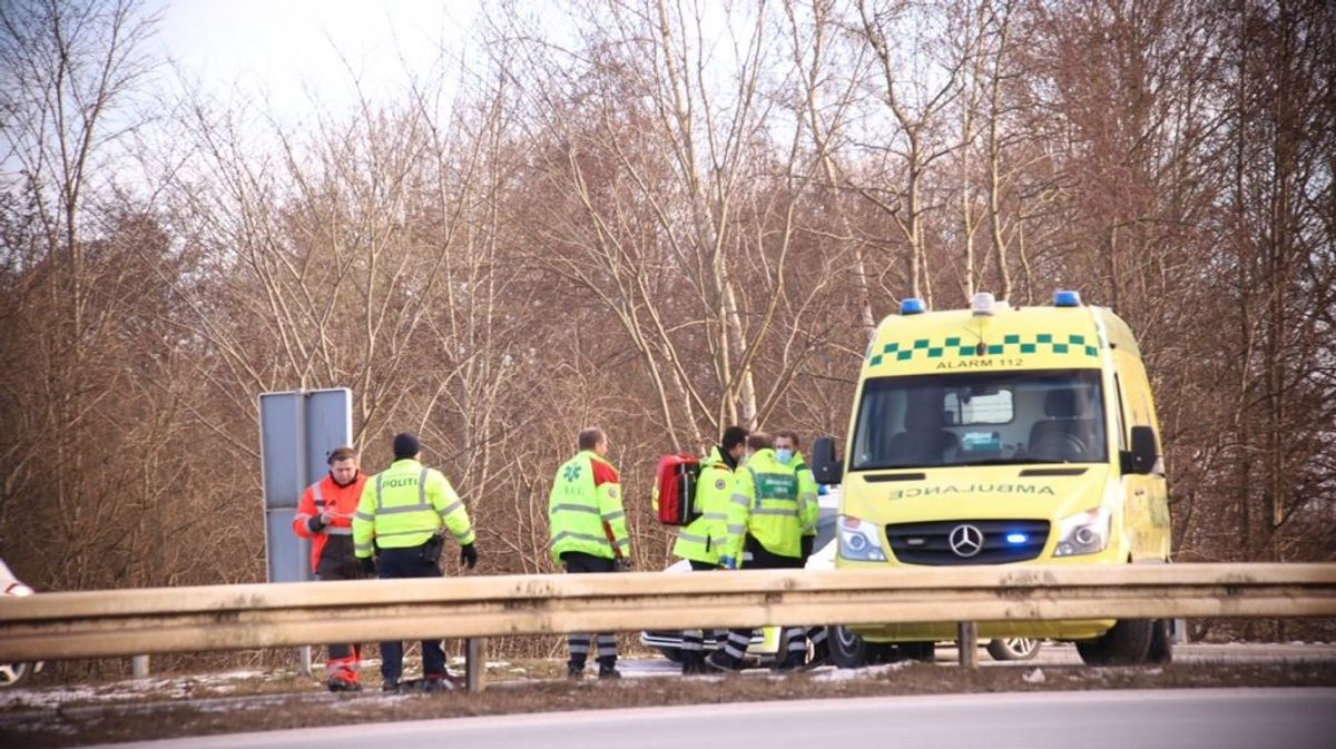 Ingen er kommet alvorligt til skade. Foto: Presse-fotos.dk
