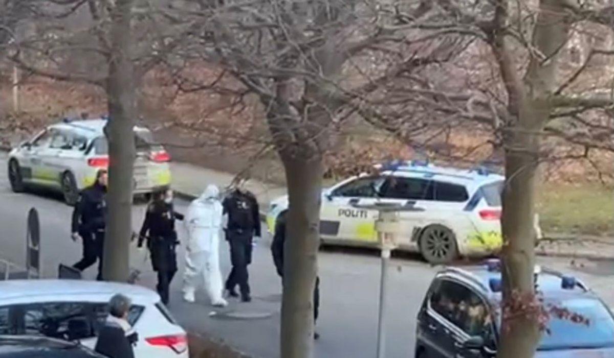 Mand sigtet for at forsøge at kvæle kæreste i Holte. KLIK FOR FLERE BILLEDER FRA ANHOLDELSEN. Foto: Presse-fotos.dk