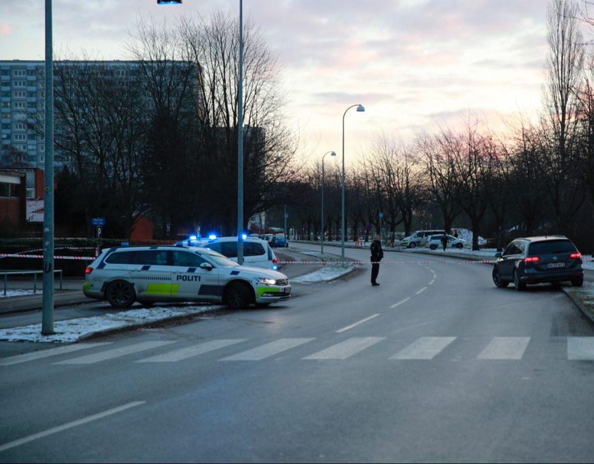 Politiaktion i Brøndby. Foto: presse-fotos.dk