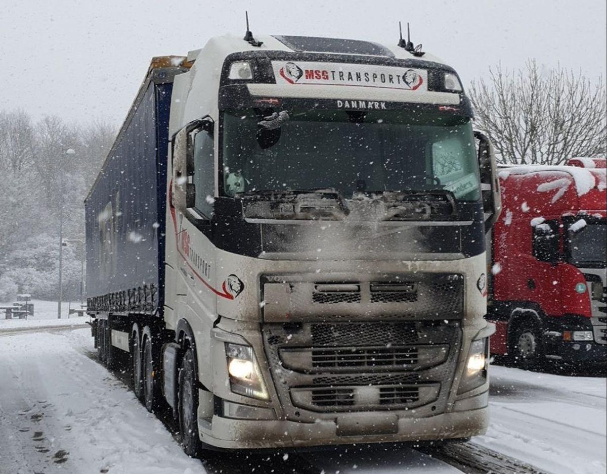 Anders' lastbil. Den står på Fyn.