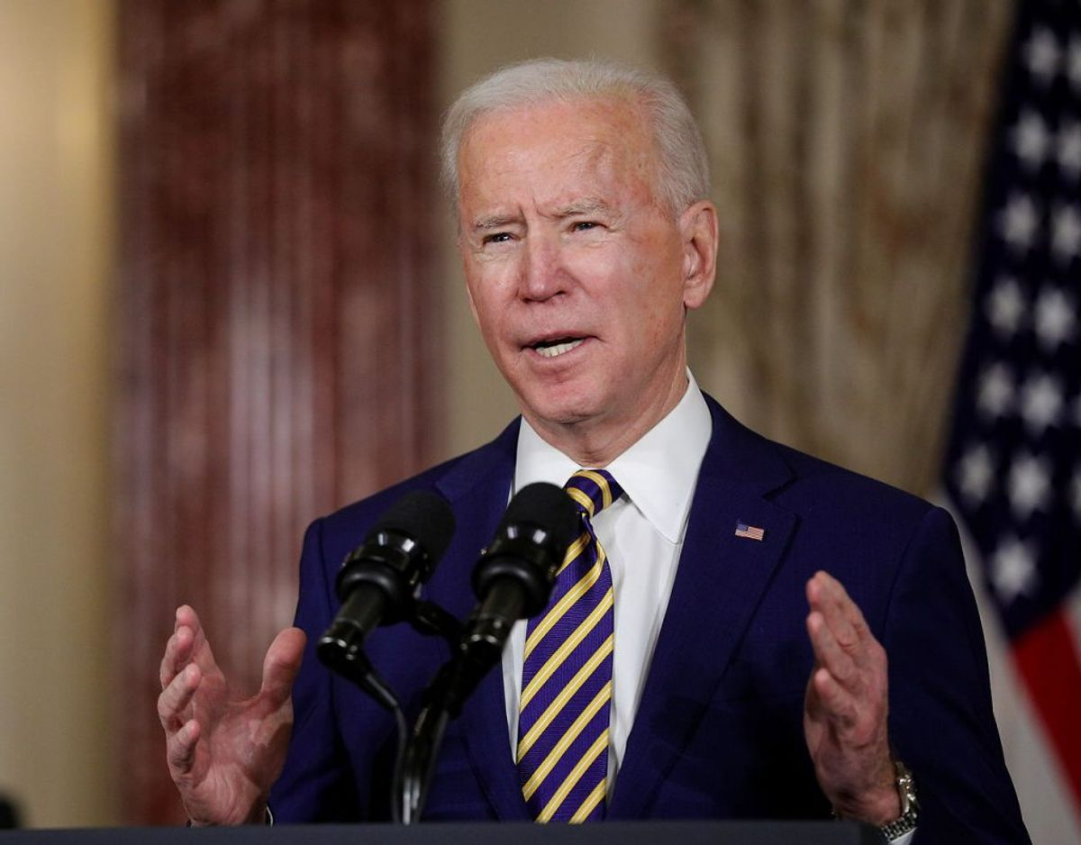 USAs præsident Joe Biden advarede blandt andet Putin i sin udenrigs-tale. Foto: Ritzau Scanpix.