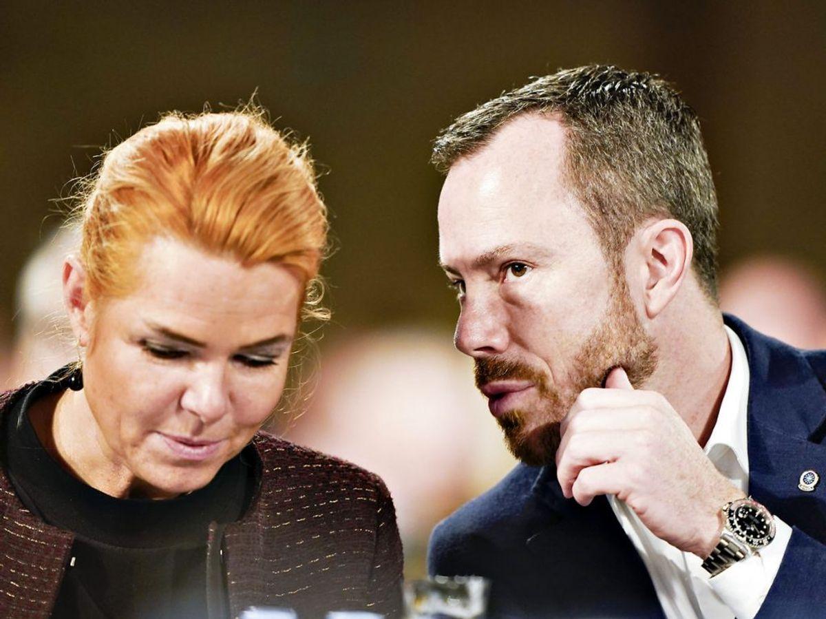 Inger Støjberg har torsdag meddelt, at hun forlader Venstre. Det sker efter en periode med intern fnidderi.  (Foto: Henning Bagger/Ritzau Scanpix)