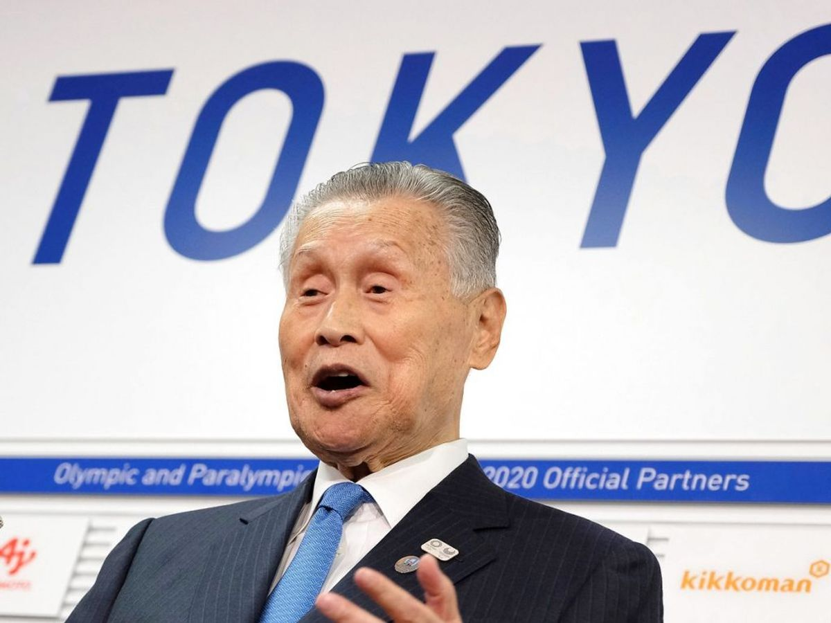 Sexistiske udtalelser kan sende Japans OL-chef ud i kulden. (Photo by Kazuhiro NOGI / AFP)