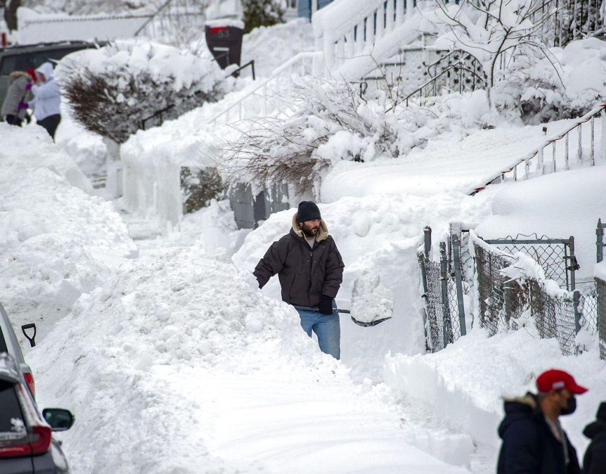 Stormen har blandt andet fået staten New Jersey til at udråbe undtagelsestilstand. KLIK FOR FLERE BILLEDER. Foto: Scanpix