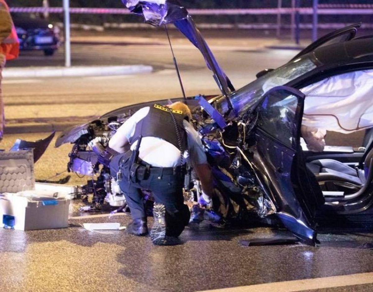 En 35-årig betjent mistede i juli 2019 livet på Langebro på grund af vanvidskørsel. KLIK for flere billeder. Foto: Presse-fotos.dk.