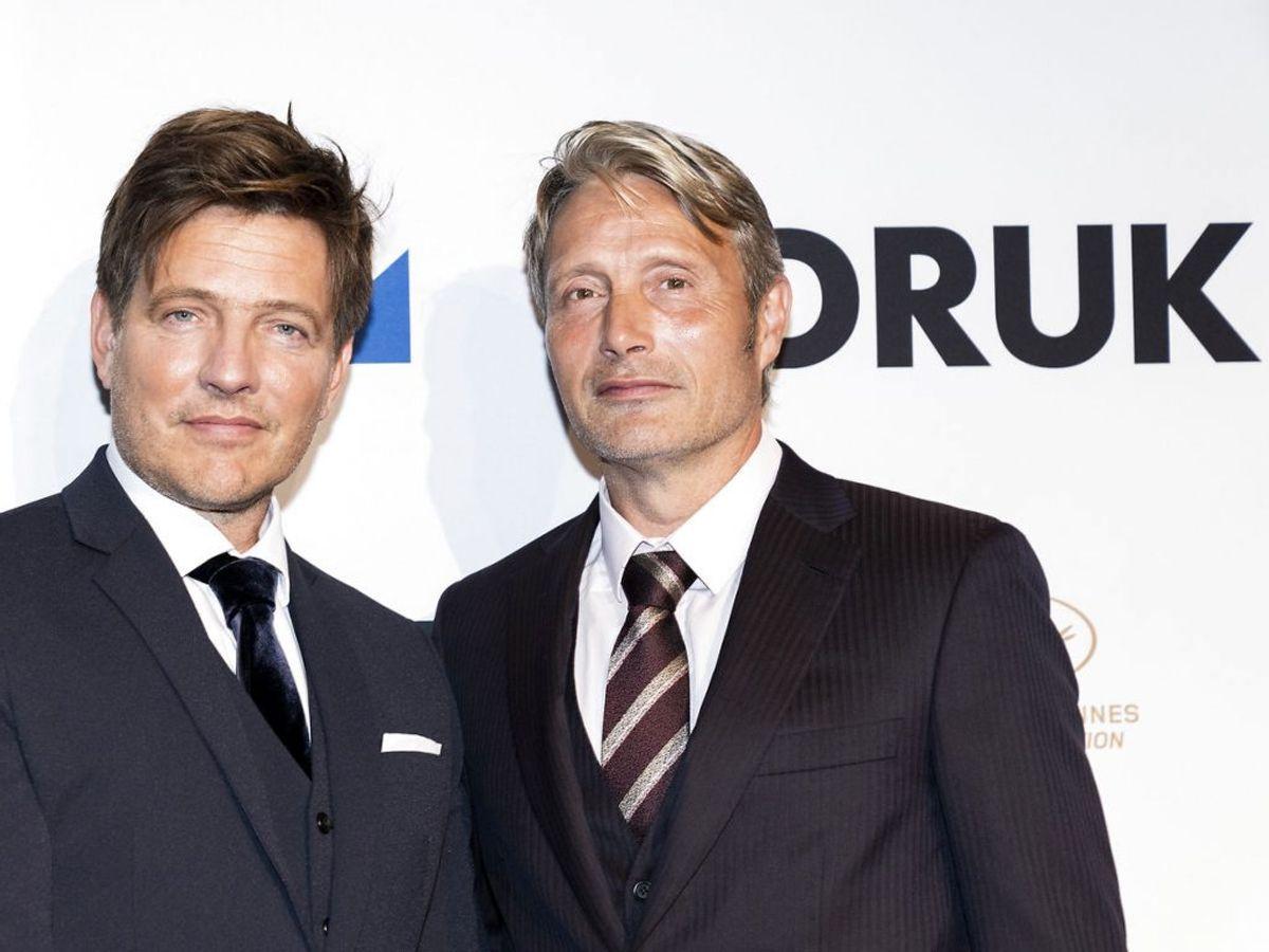 Instruktør Thomas Vinterberg og skuespiller Mads Mikkelsen. (Foto: Ida Marie Odgaard/Ritzau Scanpix)