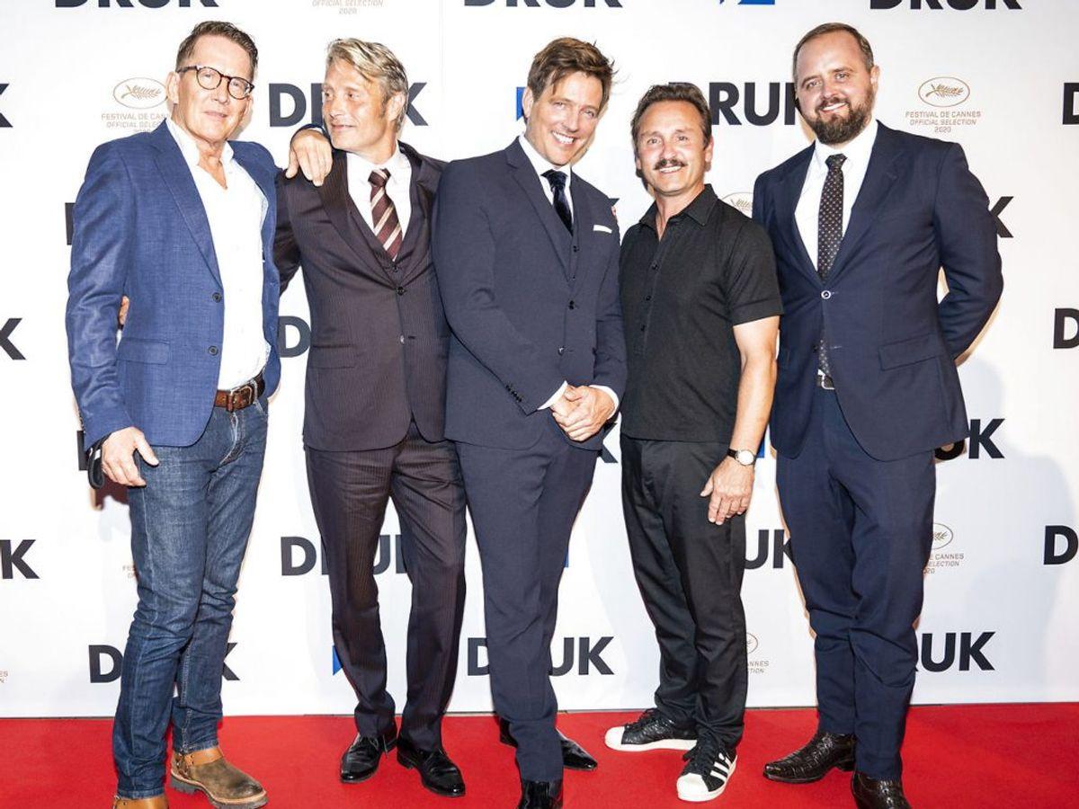 Holdet bag filmen med Lars Ranthe, Mads Mikkelsen, Susse Wold, Thomas Vinterberg, Thomas Bo Larsen og Magnus Millang. (Foto: Ida Marie Odgaard/Ritzau Scanpix)