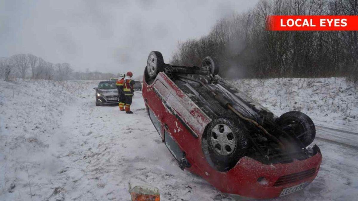Uheld ved Kværndrup på Fyn. Foto: Localeyes.dk