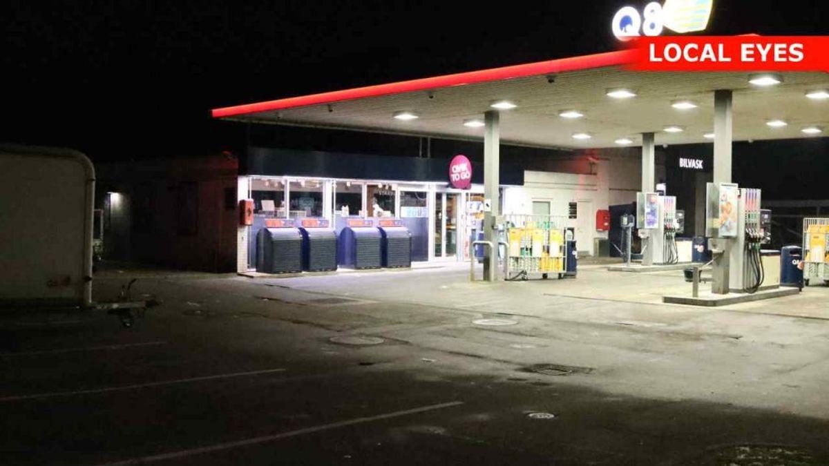 Røveriet fandt sted på denne tankstation i Stenløse. Foto: Local Eyes
