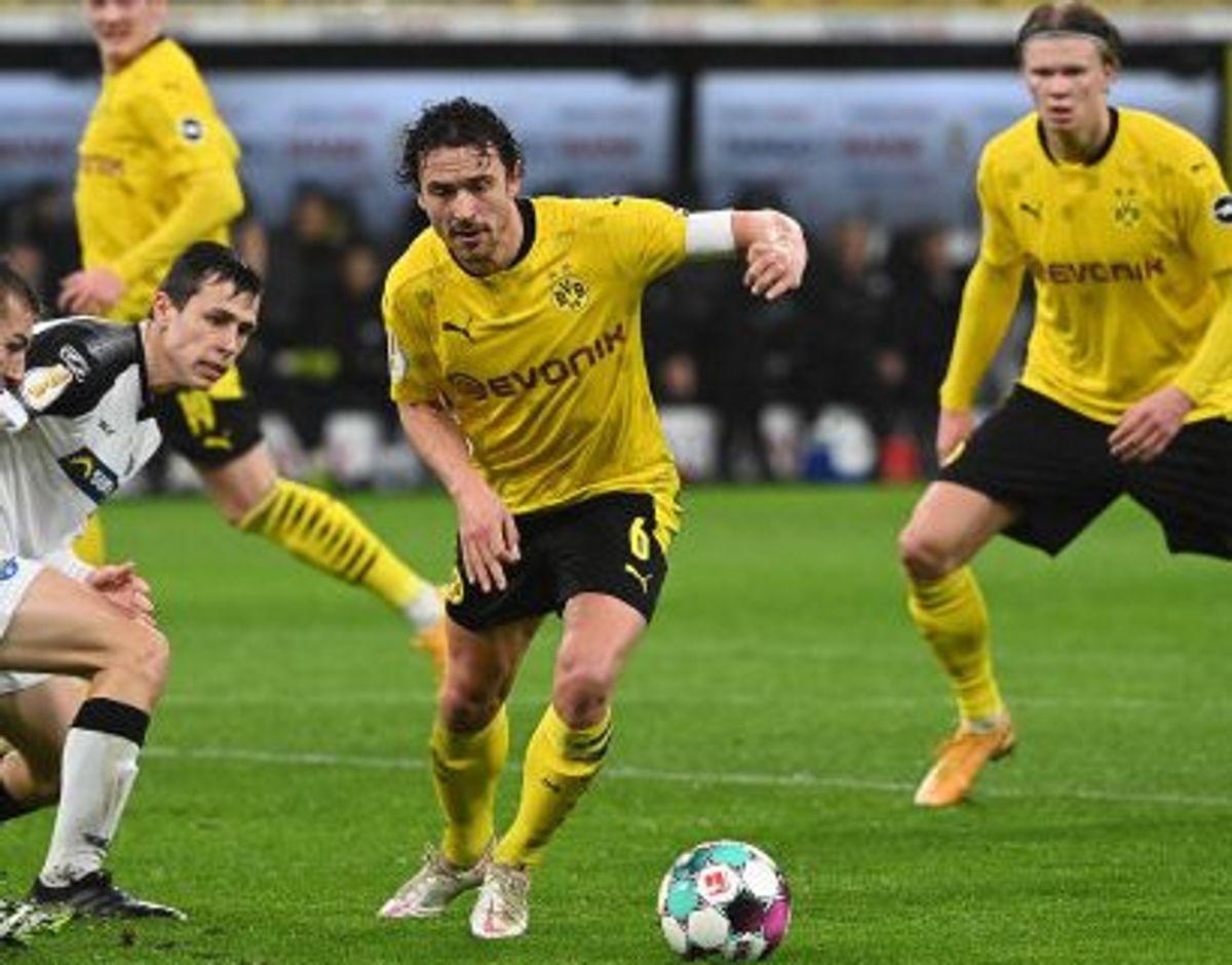 Den danske landsholdsspiller Thomas Delaney dirigerede Dortmund-midtbanen i sejren over Paderborn. Foto: Ina Fassbender/AFP