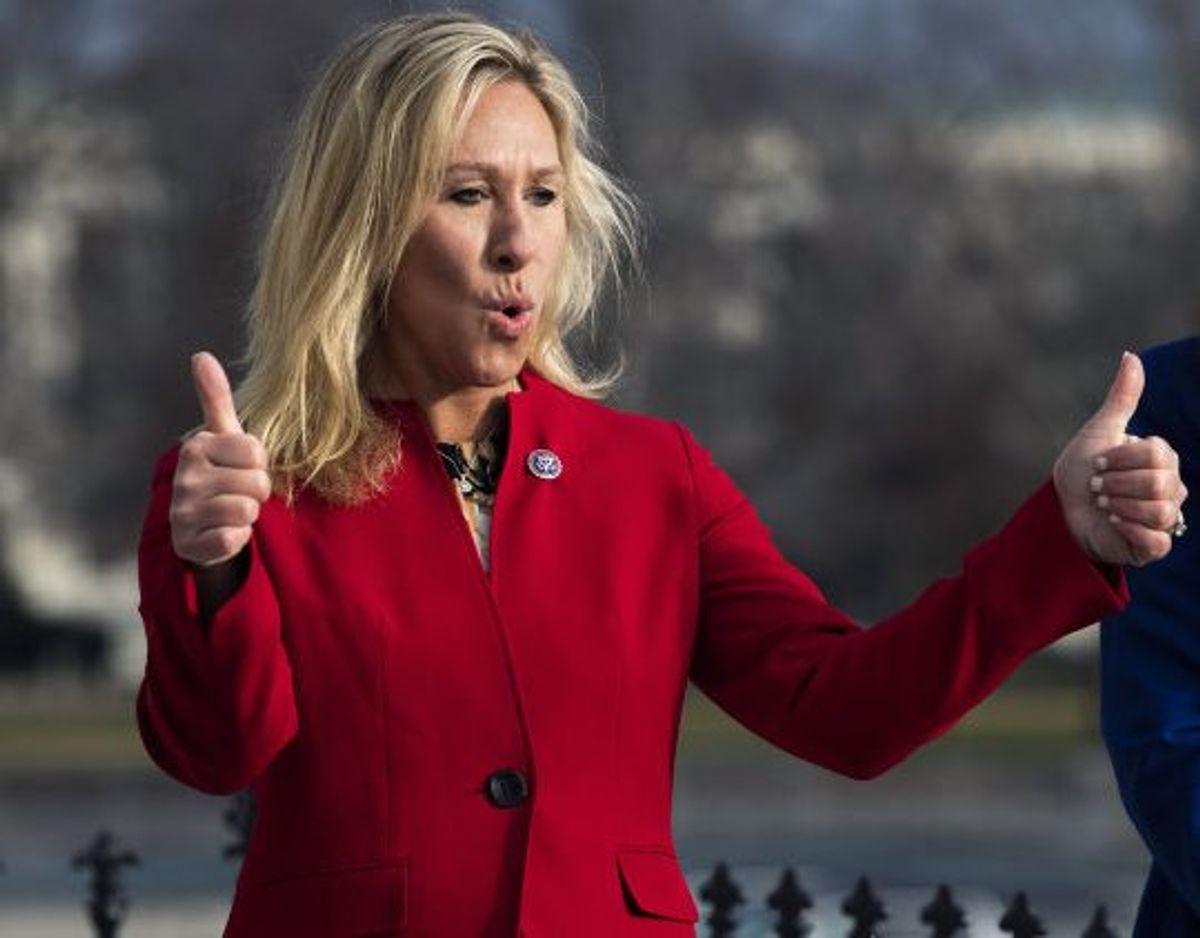 """Marjorie Taylor Greene har på Twitter taget til genmæle og kalder """"svage republikanere"""" for """"den sande kræftsvulst"""". (Arkivfoto.) Foto: Tom Williams/Scanpix"""