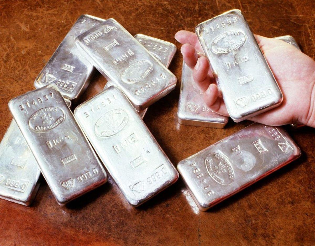 Det er længe siden, at sølv har været så meget værd. Foto: Scanpix.