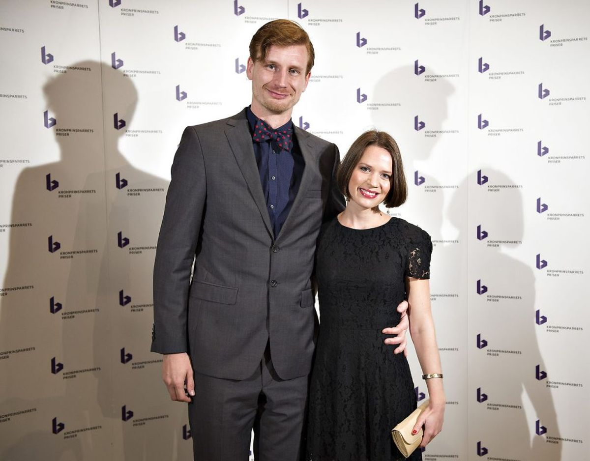 Amalie Dollerup og Andreas Jebro danner par i virkelighedens verden. Foto: Henning Bagger/Scanpix