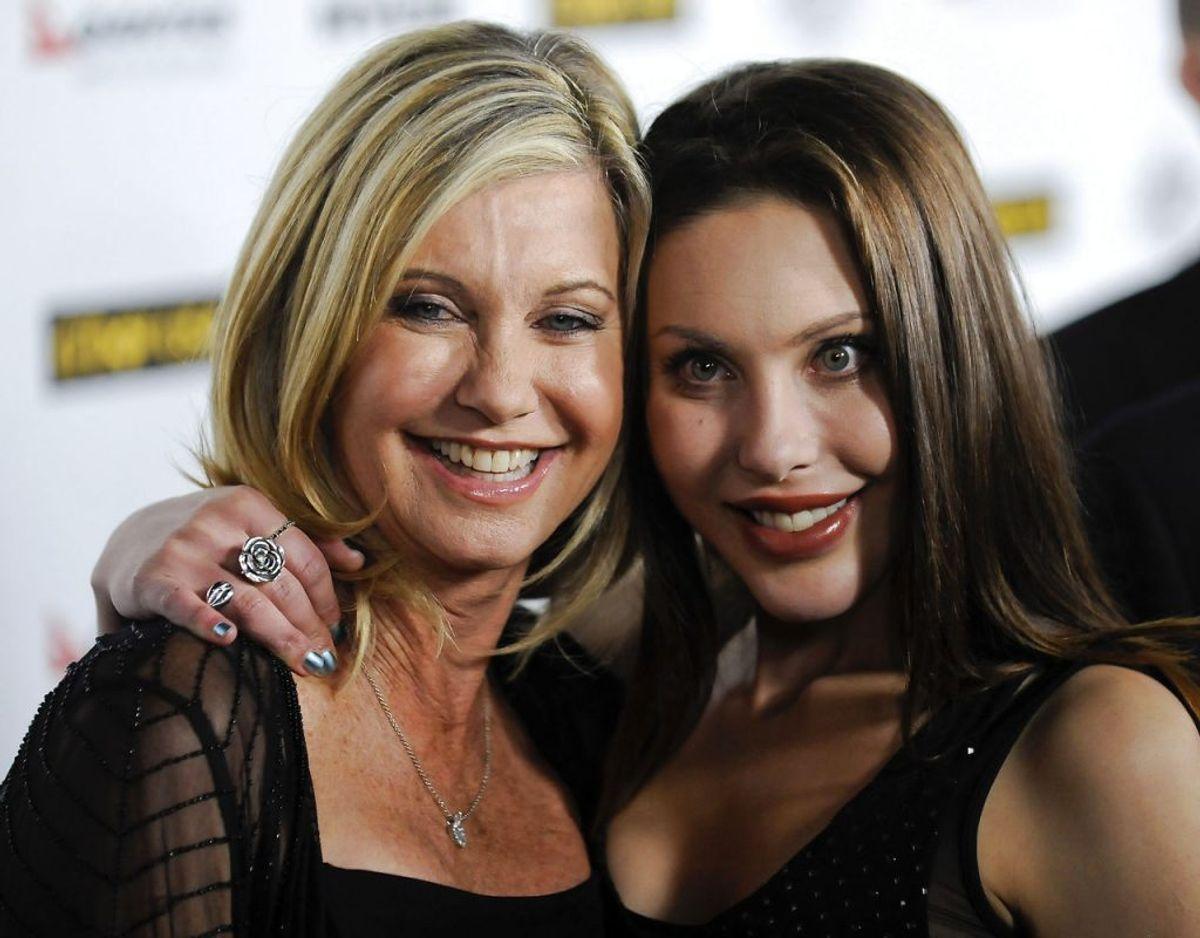 Olivia Newton-John og datteren Chloe Lattanzi. Klik videre for flere billeder. Foto: Scanpix/REUTERS/Gus Ruelas
