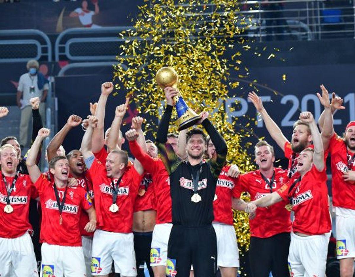 Over 2,6 millioner tv-seere fulgte med, da de danske håndboldherrer søndag vandt VM-guld. Foto: 10030 Jonas Ekströmer/Tt/Scanpix