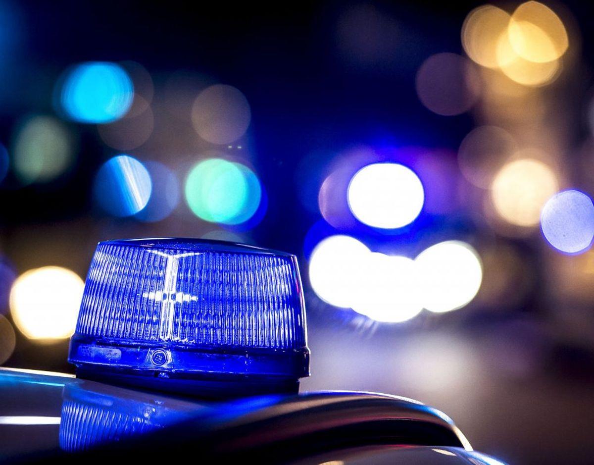 I Måløv har politiet rykket ud til slem brandulykke. (Foto: Mads Claus Rasmussen/Ritzau Scanpix)