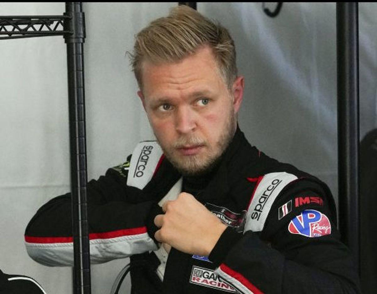 Magnussen ses her under træningen op til 24 timers-løbet. Foto: John Raoux/Scanpix