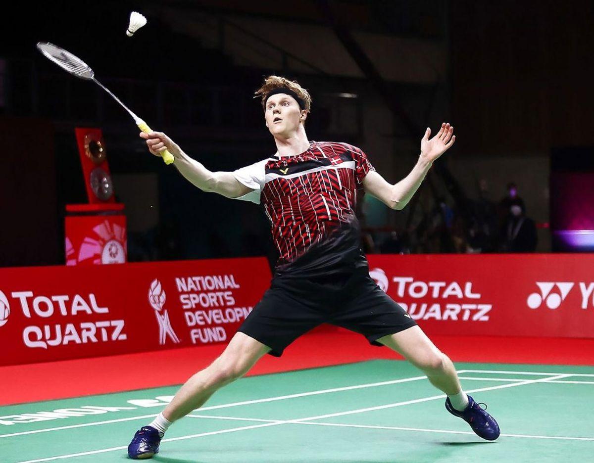 Anders Antonsen vandt sæsonfinalen over sin danske landsmand. Foto: AFP PHOTO / BADMINTON ASSOCIATION OF THAILAND/Scanpix.