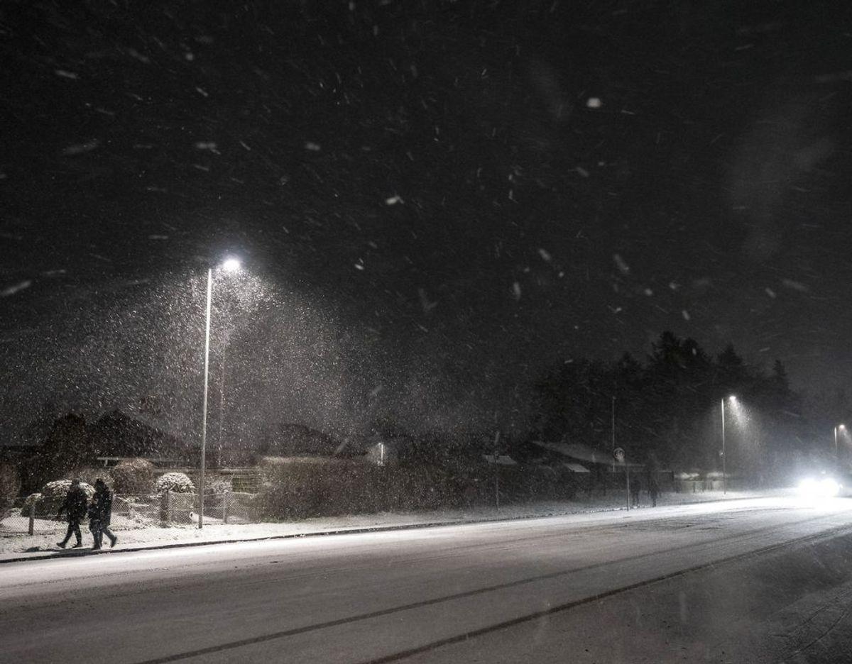 Der er udsigt til sne over Danmark natten til søndag. Foto: Mads Claus Rasmussen/Ritzau Scanpix