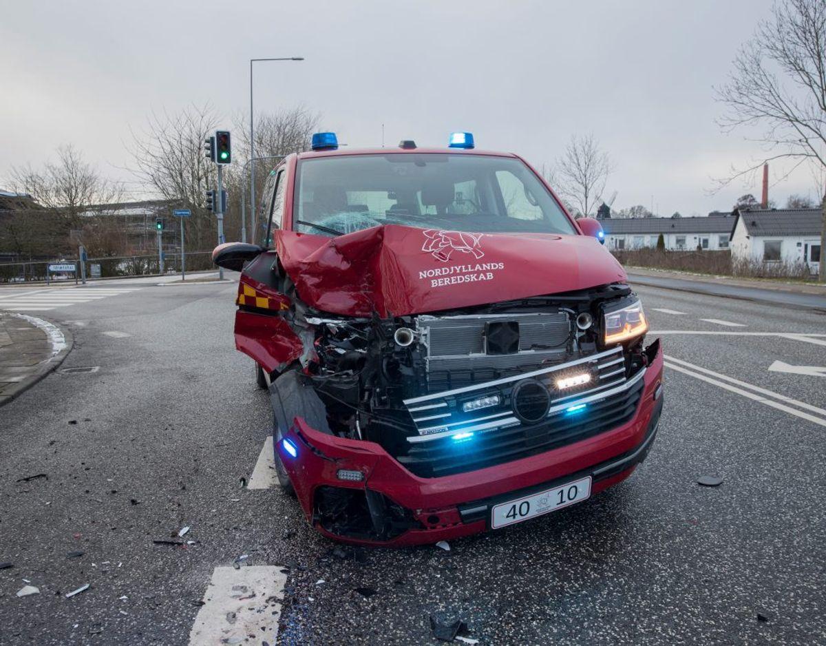 Uheldet skete lørdag eftermiddag. Foto: Rasmus Skaftved.