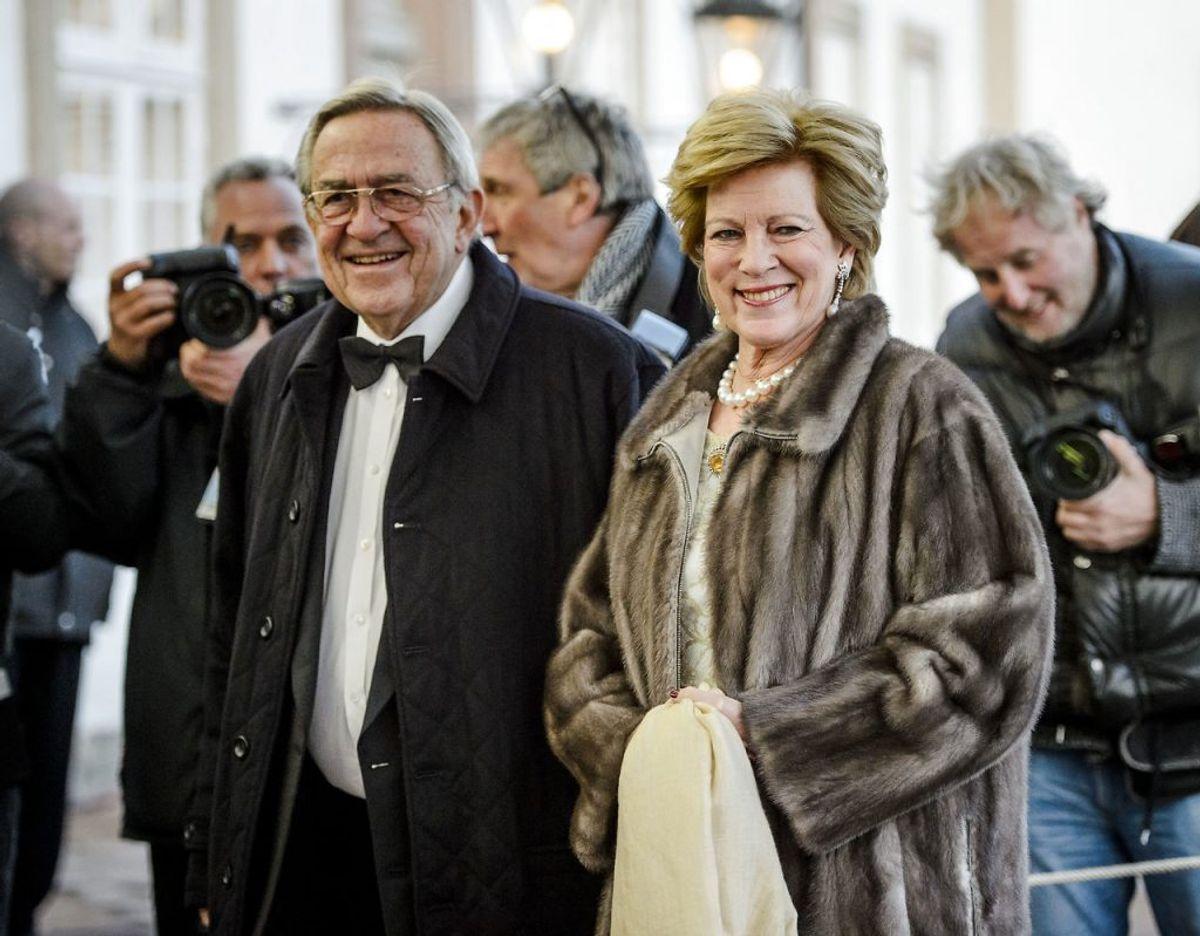Eks kong Konstantins og prinsesse Anne-Marie. Klik videre i galleriet for flere billeder. Foto: Thomas Lekfeldt/Ritzau Scanpix