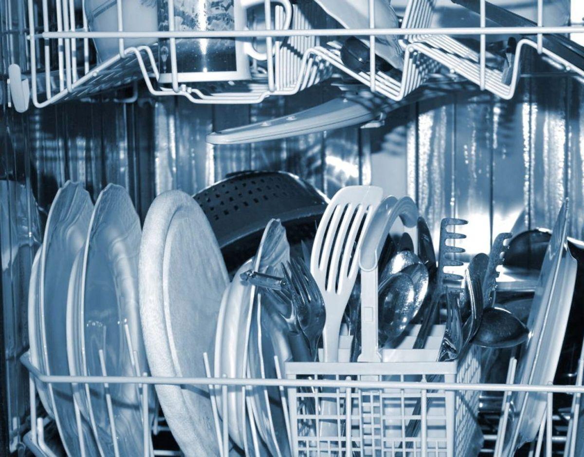 1) Tallerkener og servicer skylles for grundigt af inden opvask. Det er ikke nødvendigt. Foto: Scanpix