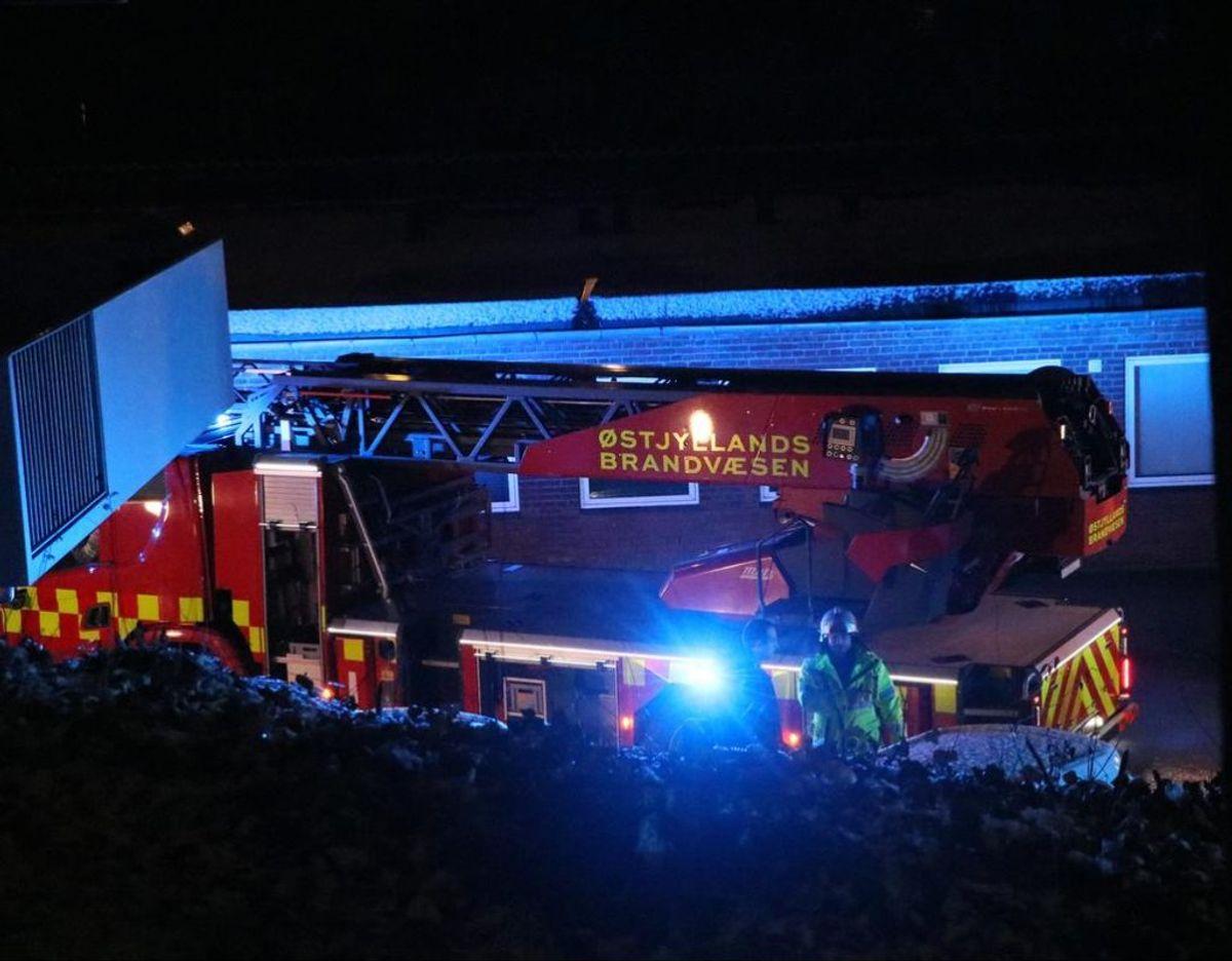 Østjyllands Brandvæsen var til stede ved branden på Langelandsgade i Aarhus C. Foto: Øxenholt foto