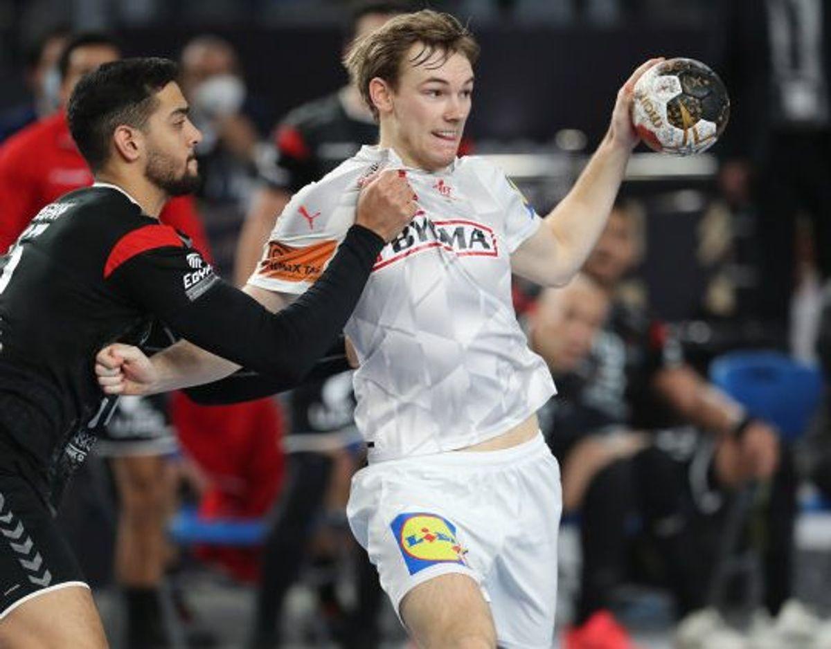 Mathias Gidsel har imponeret i sin førte slutrunde med det danske landshold. Foto: Mohamed Abd El Ghany/Reuters