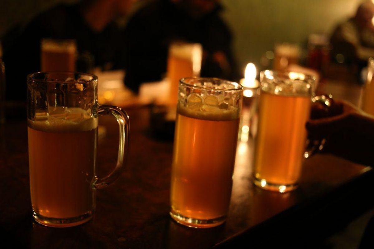 Skær ned på alkoholen.