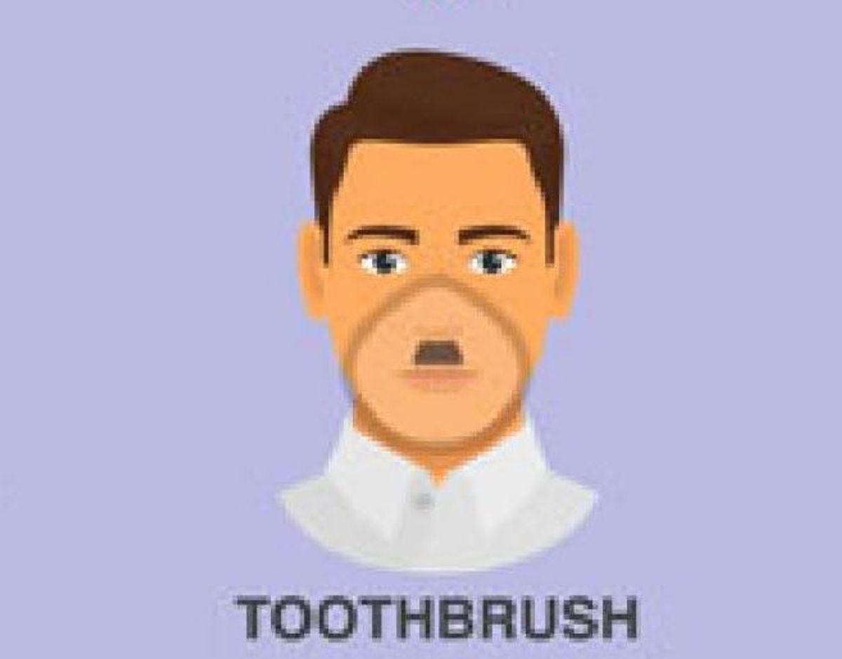 """Dette skæg, som CDC kalder """"tandbørsten"""" er godkendt. KLIK VIDERE OG BLIV KLOGERE PÅ, HVILKE SKÆG DER GÅR GODT MED MUNDBIND. Foto: CDC"""