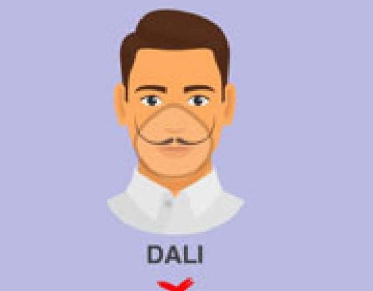 Det samme gælder dog ikke Salvador Dali-skægget – hvor overskæggets spidser stikker for langt ud. Foto: CDC