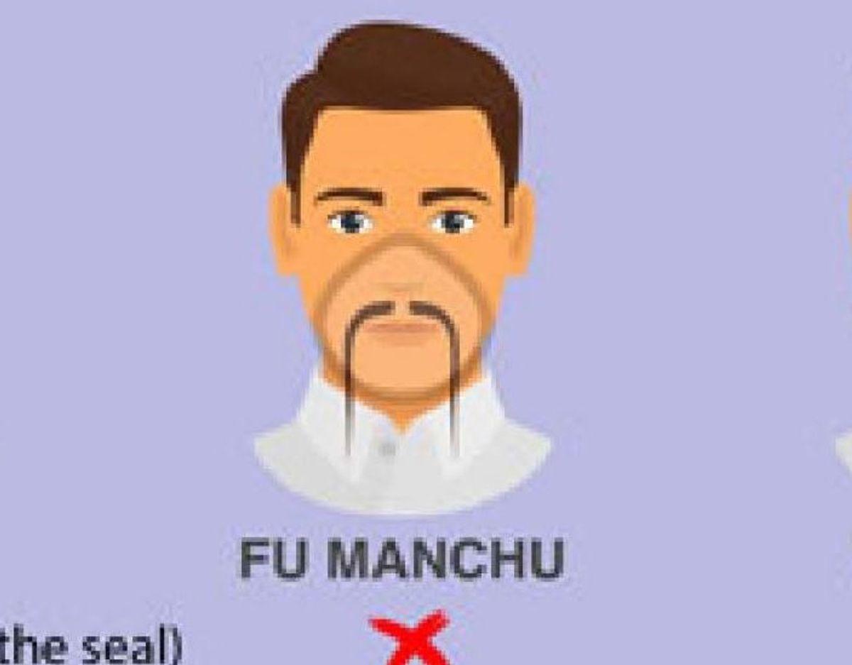 Det kinesiske Fu Manchu-skæg går heller ikke. Foto: CDC