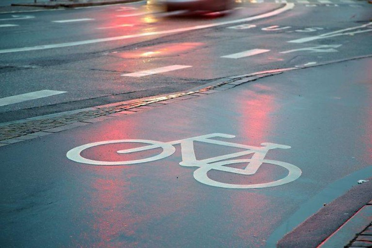 6: Hvis du ikke kører på cykelstien, hvor der er mulighed for det, koster det 700 kroner. Foto: Scanpix