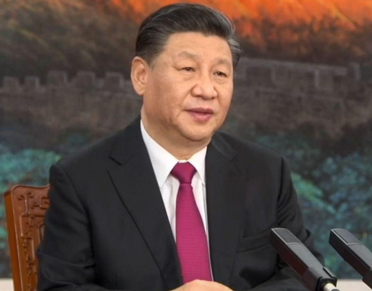 Kinas præsident, Xi Jinping, åbnede mandag et virtuelt Davos-møde, hvor mange af verdens ledere skal drøfte pandemi og andre store kriser på en lang række videokonferencer. – Foto: Ritzau Scanpix
