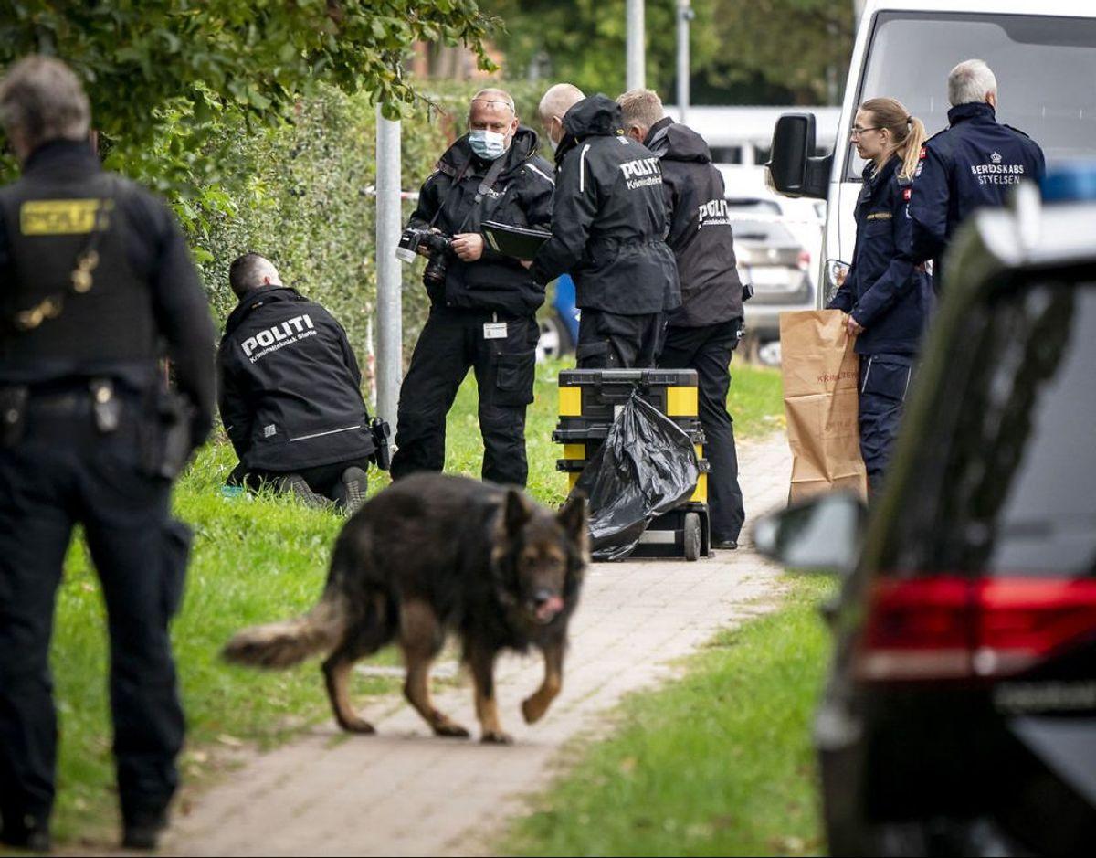 Politiaktion i Albertslund, tirsdag den 20. oktober 2020. Politiet har anholdt en person i sag om forsøg på fangeflugt. Personen er den drabsdøbte Peter Madsen. (Foto: Mads Claus Rasmussen/Scanpix 2020)