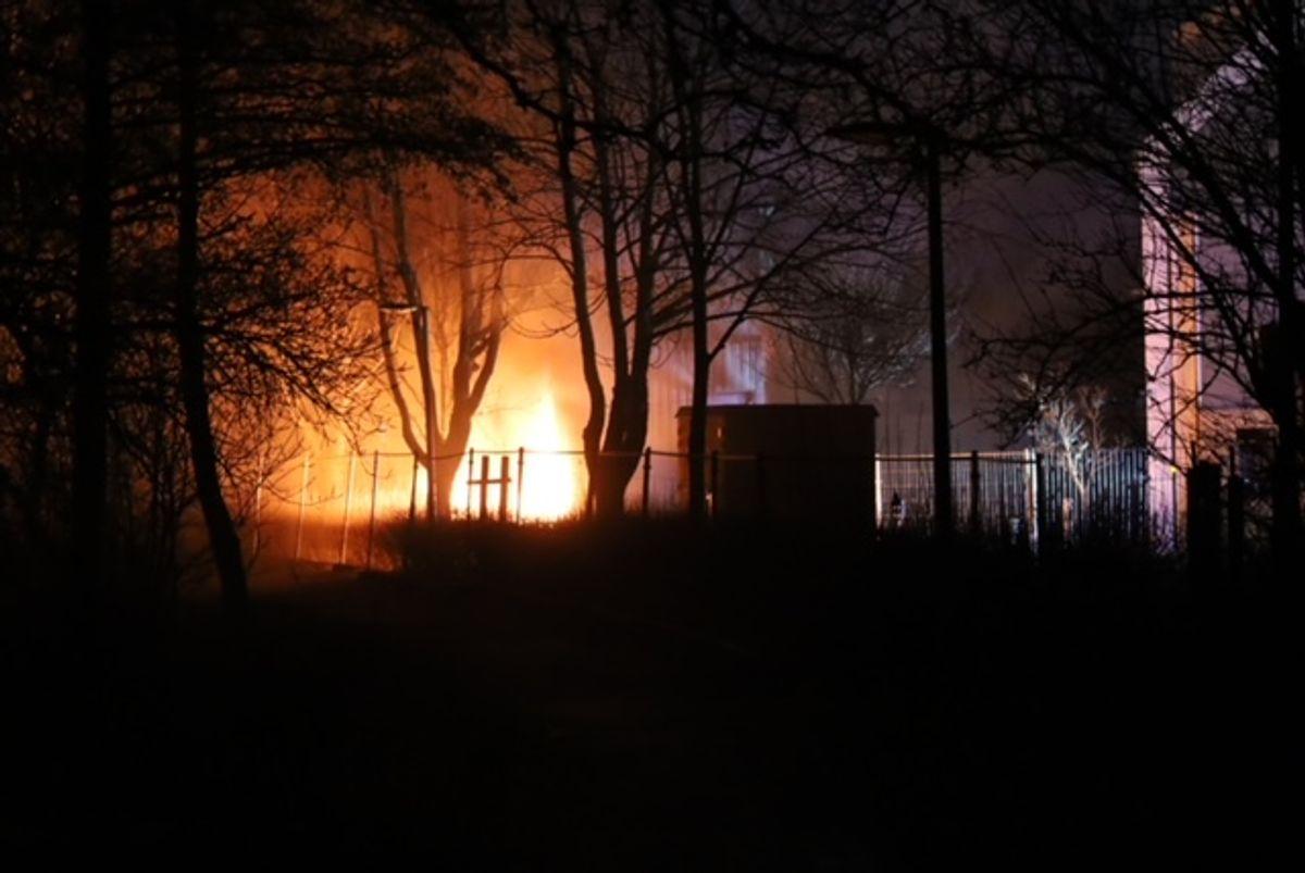 En brand skaber lige nu problemer med forsyningen. KLIK for flere billeder. Foto: Presse-fotos.dk.