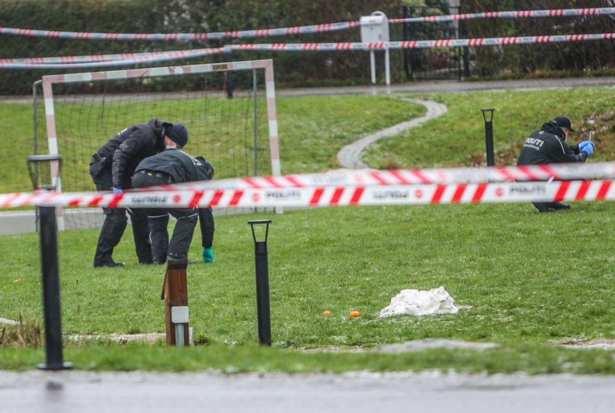 Der efterforskes fortsat i området. Klik for flere billeder. Foto: Presse-fotos.dk