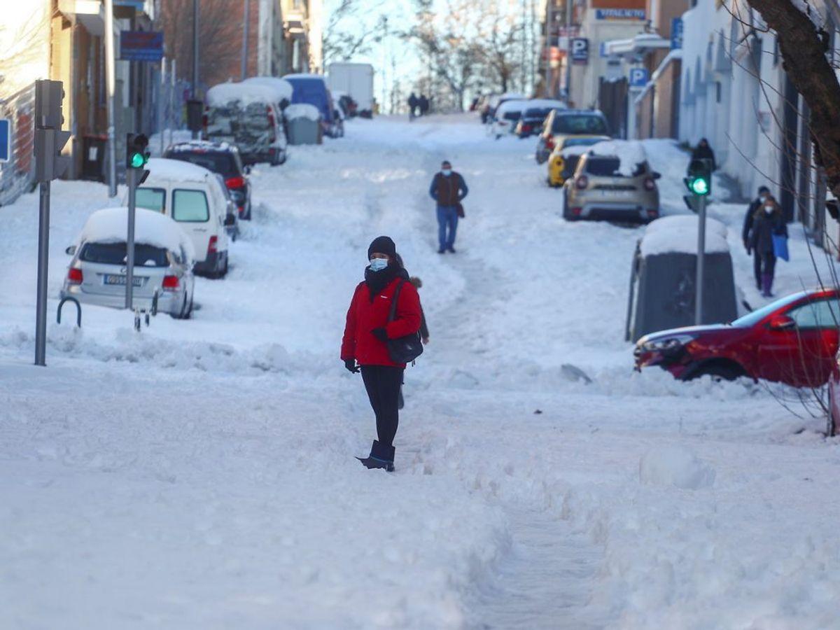Sne og frost har gjort vejene glatte. Foto: Sergio Perez/Scanpix.