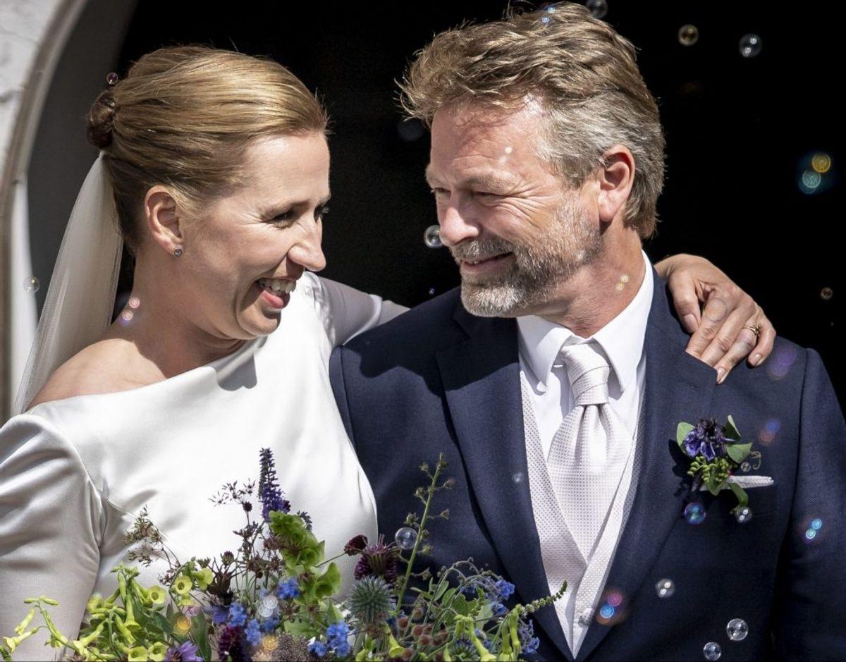 Mette Frederiksen og Bo Tengberg sagde ja til hinanden i 2020. Foto: Mads Claus Rasmussen/Scanpix.